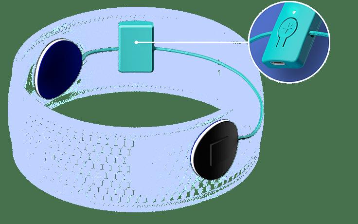 Vous ne sentirez pas les écouteurs extra-fins du HoomBand. Le module bluetooth 5.0 permet de lire les audios sans être dérangé par un câble.